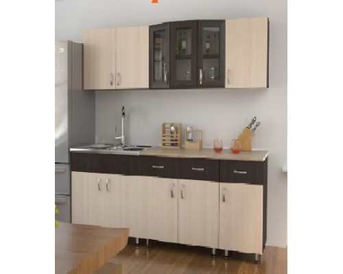 Кухонный гарнитур ЛДСП 2.0 (Володин) компоновка 1