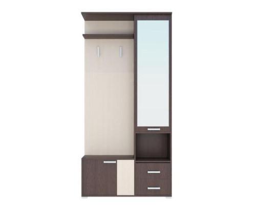 Шкаф с зеркалом (унив. сборка) Домино (А) Стл
