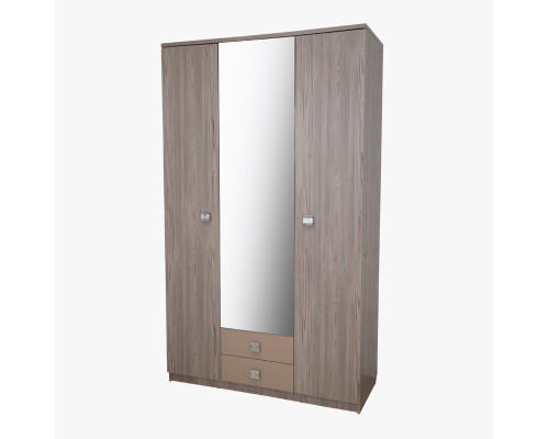 "Шкаф трехстворчатый 130 с зеркалом ""Каньон"" Трд"