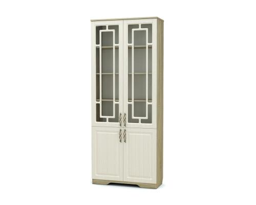 Шкаф двухстворчатый комбинированный Оливия Мг