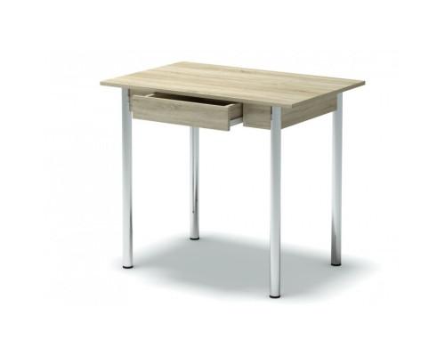 Стол обеденный с ящиком (ноги хром) Мг