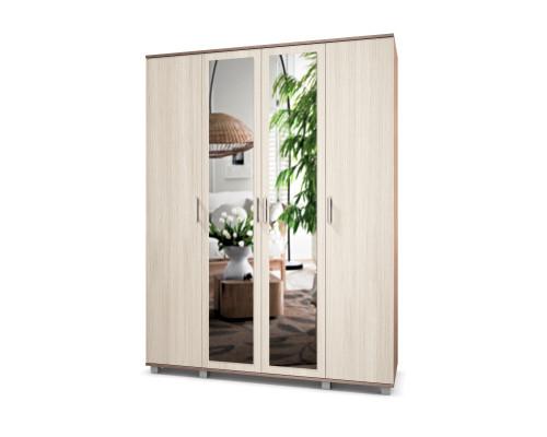 "Шкаф четырехстворчатый с двумя зеркалами ""Ева"" Е41 Модерн"