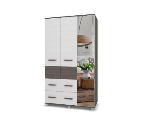 """Шкаф трехдверный с зеркалом и двумя ящиками """"Виора"""" В33 Модерн"""