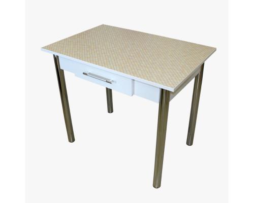 Стол обеденный прямоугольный 59х89 с ящиком LFB пластик Трд