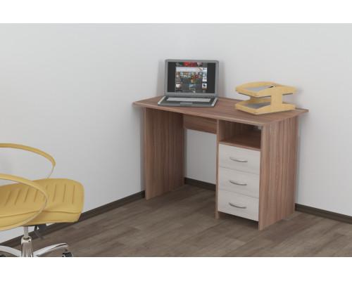 Стол письменный с 3-мя ящиками универсальный Эл